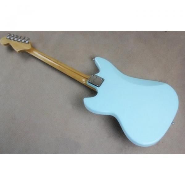 Custom Fhole Jaguar Sky Sonic Blue 6 String Electric Guitar