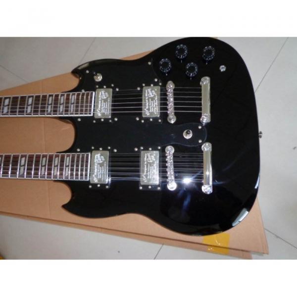 Custom Don Felder EDS 1275 SG Double Neck Black Electric Guitar