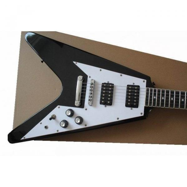 Custom Black guitarra Flying V 120 Electric Guitar