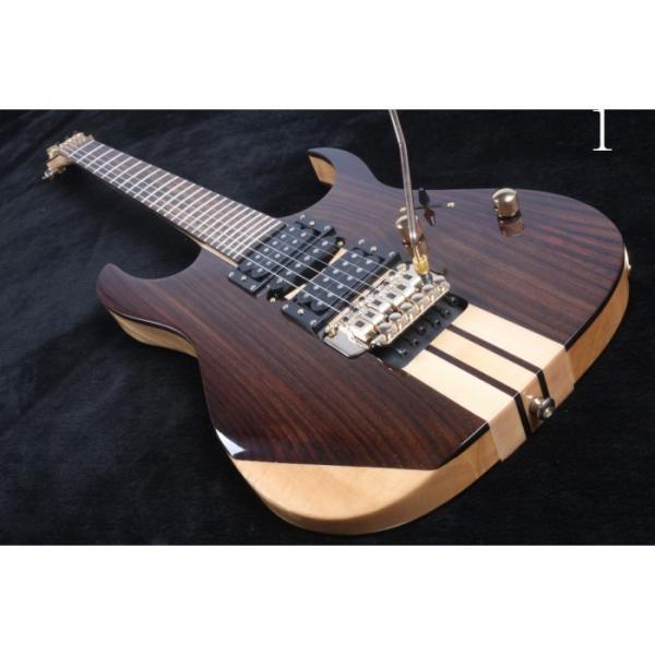 Custom 6 Strings Blazer Cream Stripe Brown Finish Electric Guitar