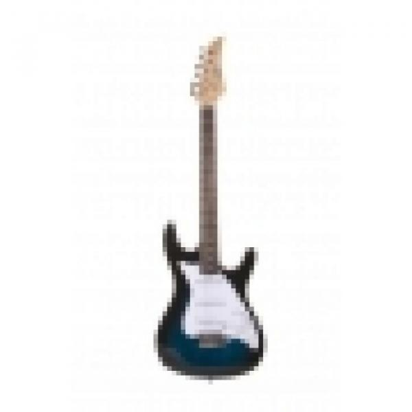 39 Inch Blue Sunburst Electric Guitar With Strap