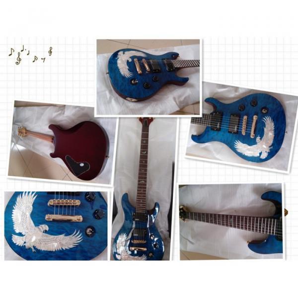The Top Guitars Korean Whale Blue Bird Inlay Electric Guitar