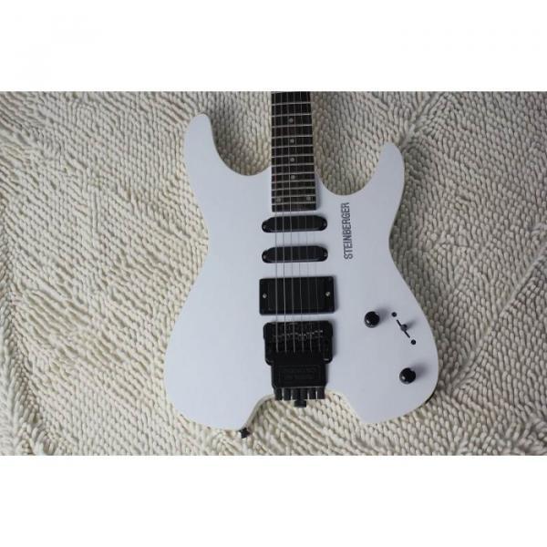 Custom Shop White Steinberger 24 Fret No Headstock Electric Guitar