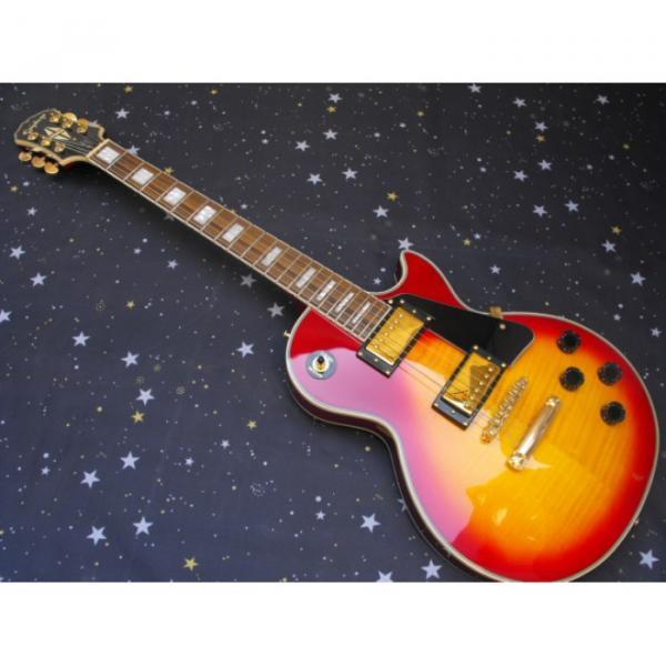 Custom Shop Sunburst Epi LP Electric Guitar
