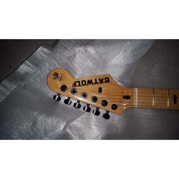 Custom Shop Stratocaster Cat Wolf Electric Guitar