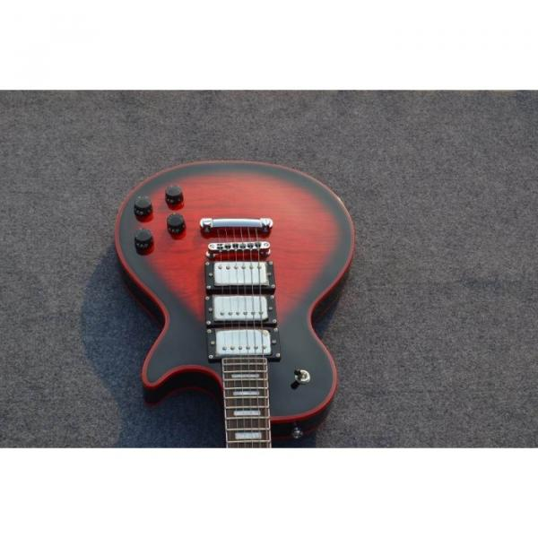Custom Shop Red Wine Standard  LP Electric Guitar Widow Burst