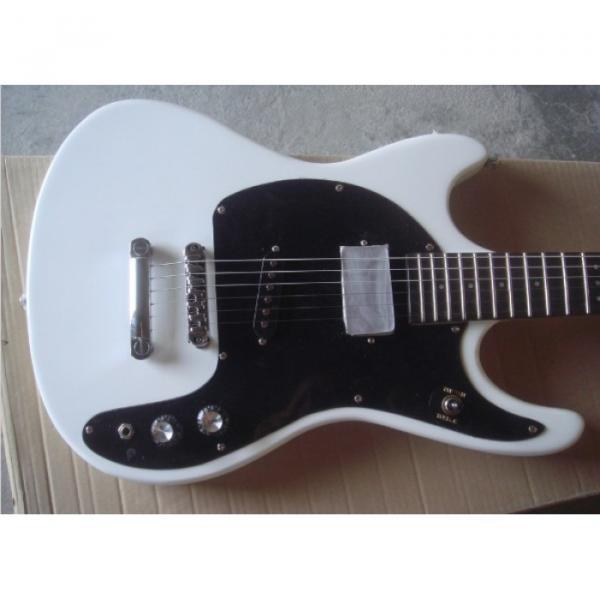 Custom Shop Mosrite 1965 Adventure Electric Guitar White Natural Headstock