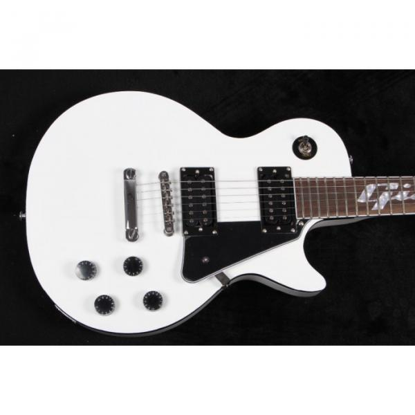 Custom Shop LP White Inlayed Fretboard Electric Guitar