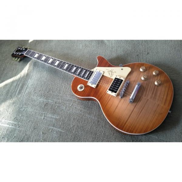 Custom Shop LP Brown Tiger Maple Top Electric Guitar