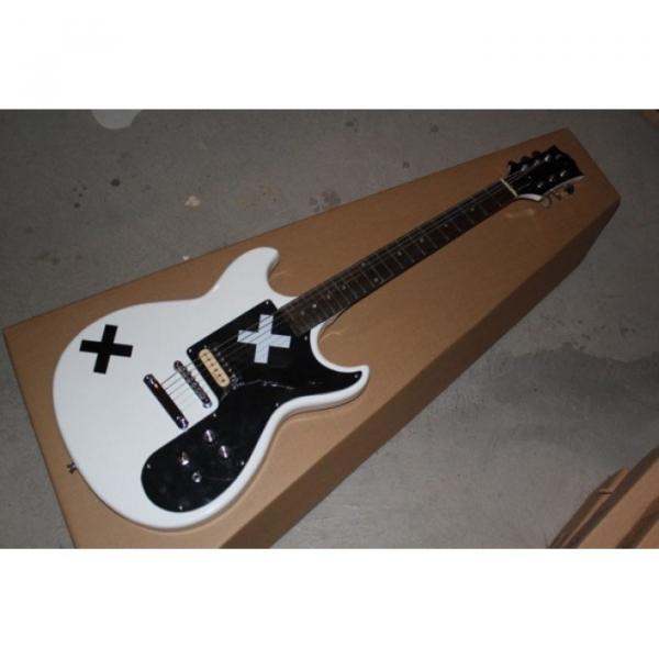 Custom Shop Double Cutaway White X Black White Electric Guitar