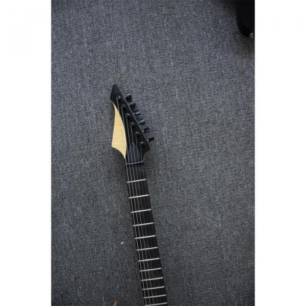 Custom Shop Black Machine 6 String Gray Tiger Maple Top Electric Guitar