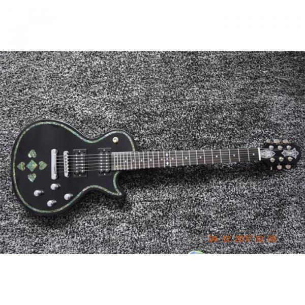 Custom Shop Black Abalone Spades Card Electric Guitar