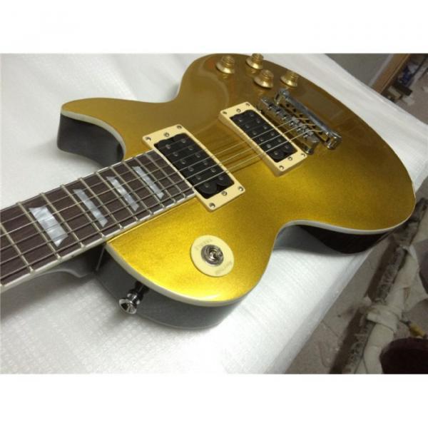 Custom Shop 6 String Gold Top Standard  LP Glossy Electric Guitar