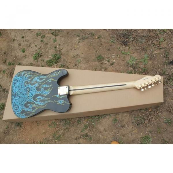 Custom Paisley Fender James Burton  Blue Fire Telecaster Electric Guitar