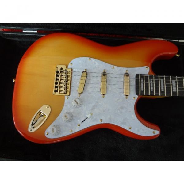 Custom Orford Cedar Stratocaster Sunburst Electric Guitar
