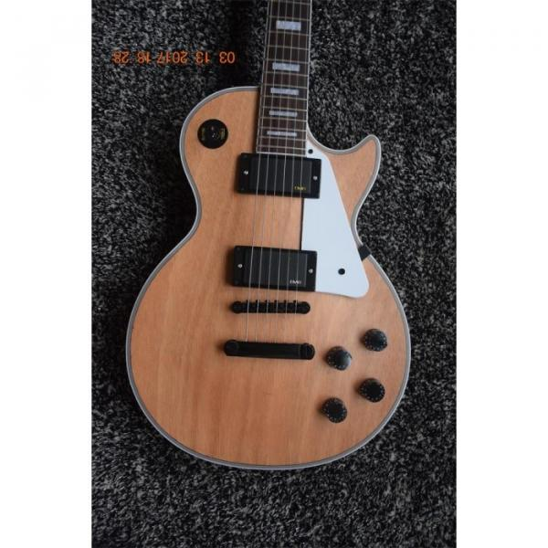 Custom Matte Natural Black Hardware 6 String Electric Guitar