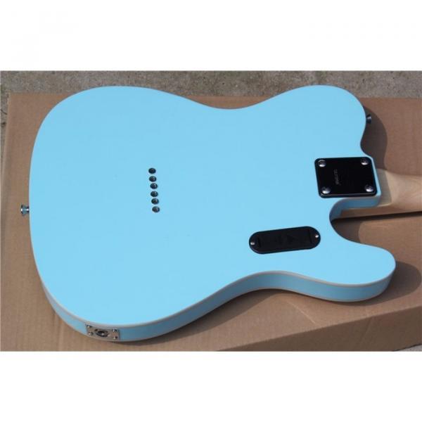 Custom Fender Left Handed Sky Green Telecaster Electric Guitar