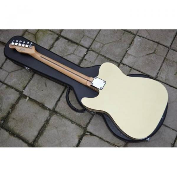 Custom Fender F Hole Pearl White Telecaster Electric Guitar