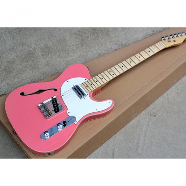 Custom Fender F Hole Carnation Pink Telecaster Electric Guitar