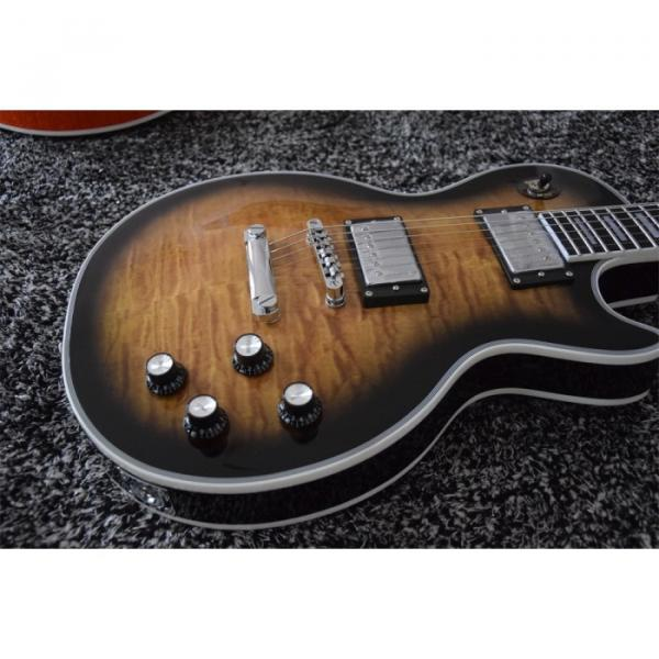 Custom Built Quilted Maple Top LP 6 String Electric Guitar Semi Hollow