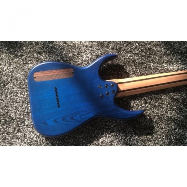 Custom Black Machine 8 String Natural Wood Black Electric Guitar