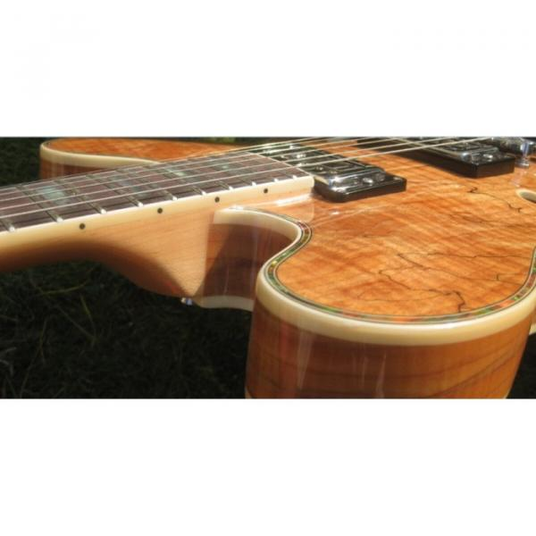 Custom 6 String Languedoc Dead Wood Grain Top Electric Guitar