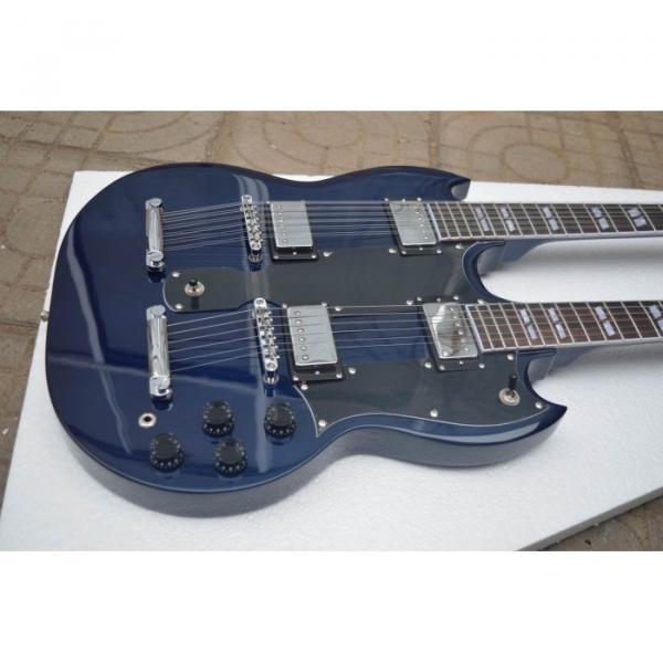 Custom Shop Don Felder SG Deep Blue EDS 1275 Double Neck Electric Guitar