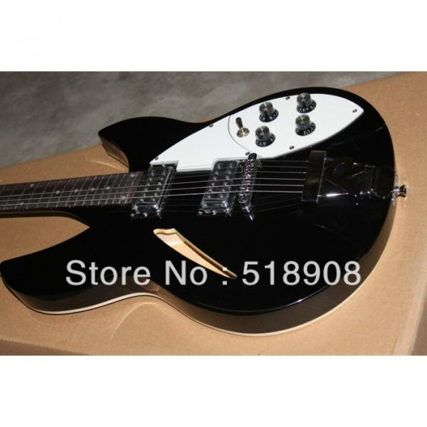 Rickenbacker 381 Black Bigsby 3 Pickups Guitar