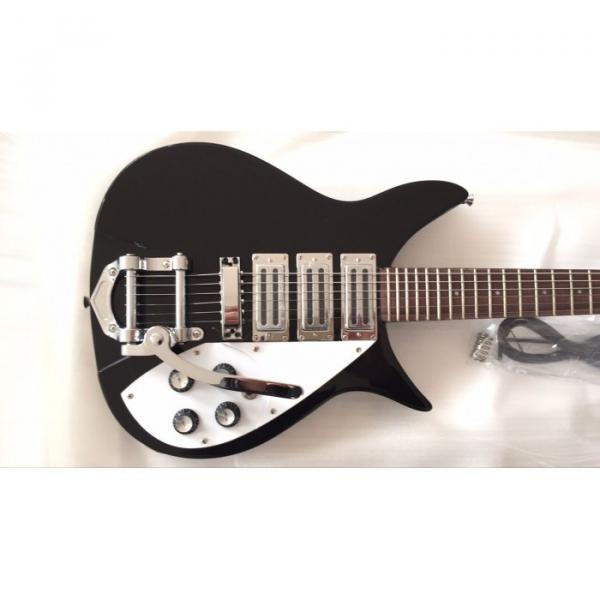 Custom Shop Rickenbacker 325C64 21 Inch Scale Length Jetglo Black Guitar