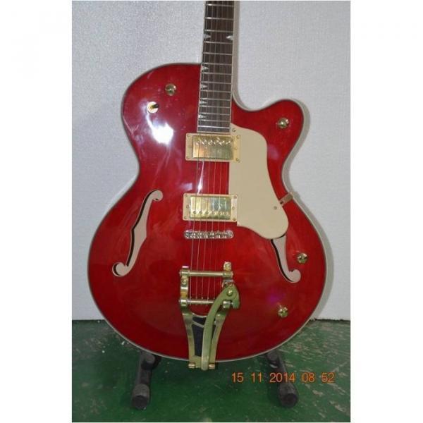 Custom Shop Gretsch Red Gold Hardware Jazz Guitar