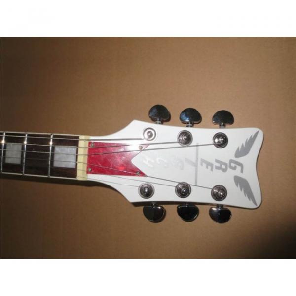 Custom Shop Double Fhole Gretsch Falcon Snow White Guitar