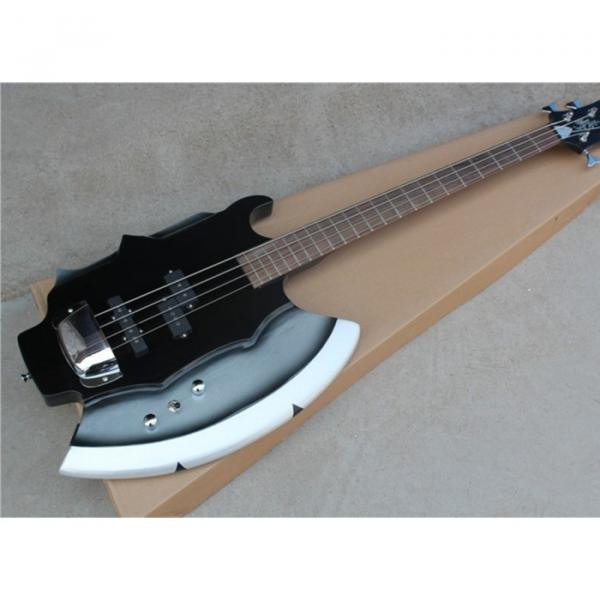 Custom Shop Cort Axe Black Gene Simmons 4 String Bass