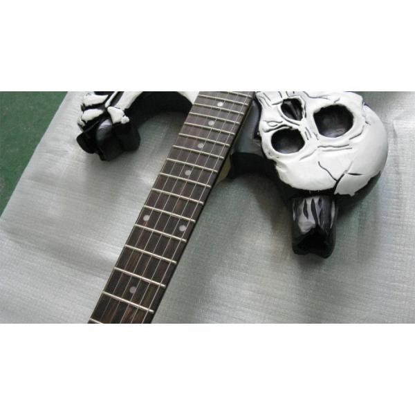 Custom  ESP Black Carved Skull Electric Guitar