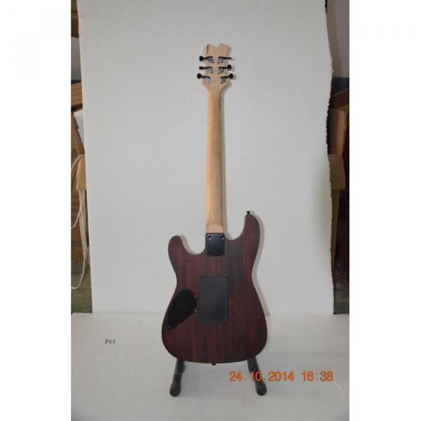 Custom Shop Black Machine Skull Emo 6 String Gear 4 Music Vintage Carved Electric Guitar