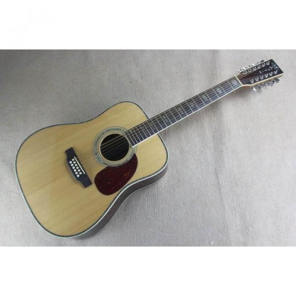 Custom 1833 Martin D45 Natural Acoustic 12 String Guitar Sitka Solid Spruce Top With Ox Bone Nut & Saddler