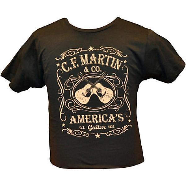 Martin Dual Guitars Vintage T-Shirt Black Medium