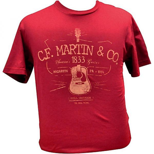 Martin D28 Logo T-Shirt Cardinal Large