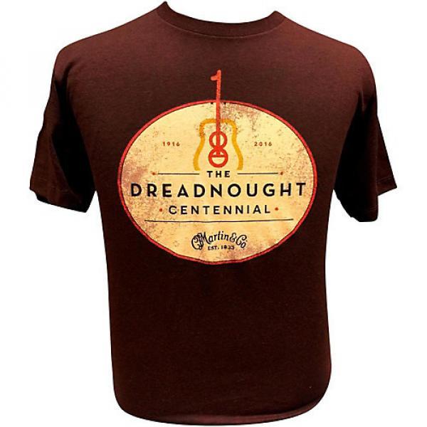 Martin Dreadnought Centennial T-Shirt Small Sangria