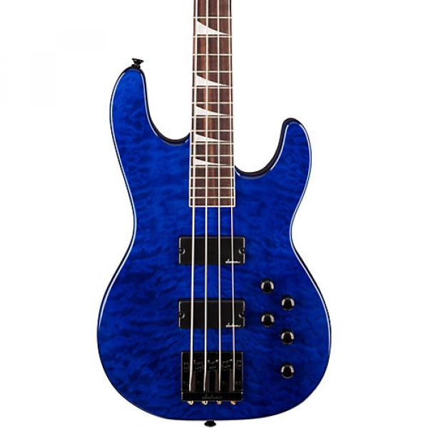 Jackson JS3 Concert Bass with Quilted Maple Top Transparent Blue