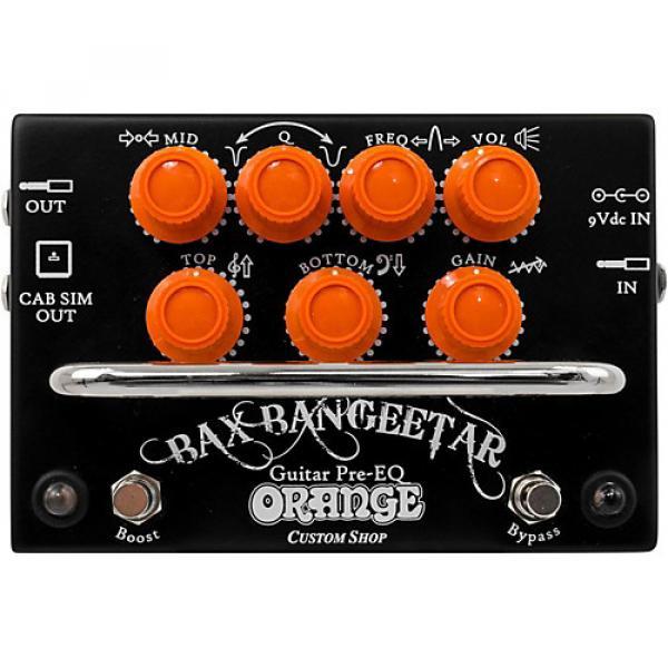 Orange Amplifiers Bax Bangeetar Pre-EQ Guitar Effects Pedal Black