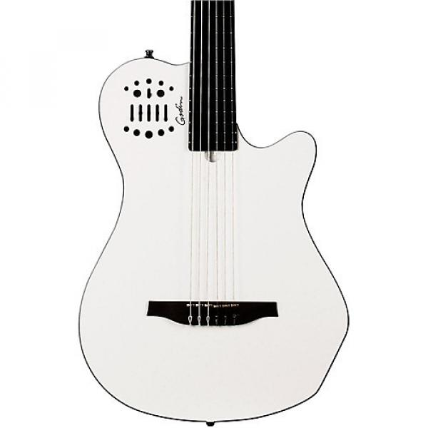 Godin Multiac Grand Concert SA Nylon-String Acoustic-Electric Guitar White