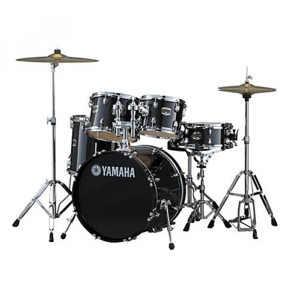 "Yamaha Gigmaker 5-Piece Drum Set with 20"" Bass Drum Black Glitter"