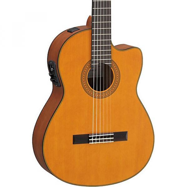 Yamaha CGX122MCC Solid Cedar Top Acoustic-Electric Classical Guitar Natural