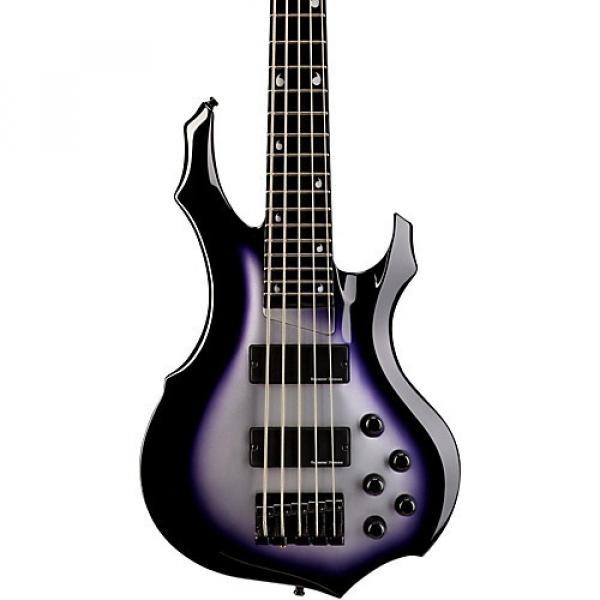 ESP E-II Doris Yeh-D5 5 String Bass Guitar Purple Silver Sunburst