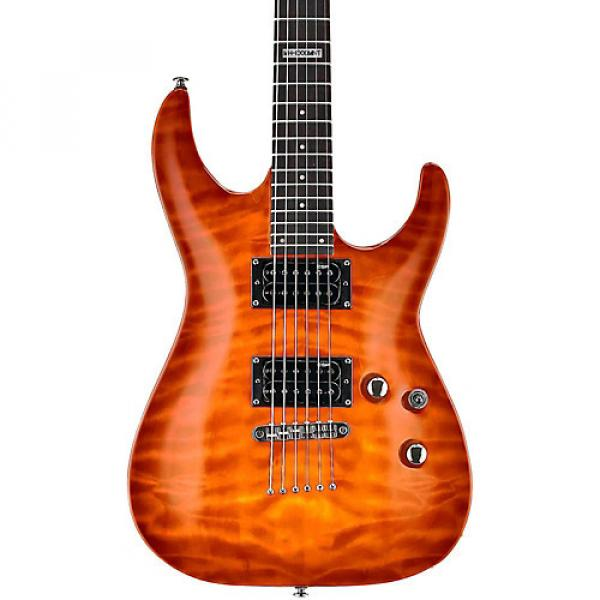 ESP LTD LMH100QMNT Quilt Maple Top Electric Guitar Amber Sunburst