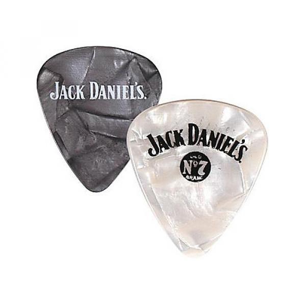 Peavey Jack Daniel's Pearloid Guitar Picks - One Dozen White Pearl Medium