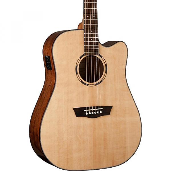 Washburn Woodline Series WLD10SCE Acoustic-Electric Cutaway Dreadnought Guitar Natural