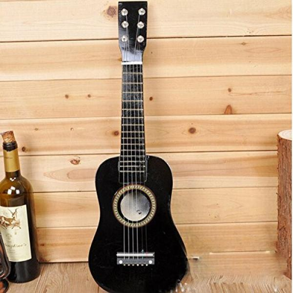 New 23 inch Wooden Black Guitar Acoustic Muscial Instrument Toy Kids Gift