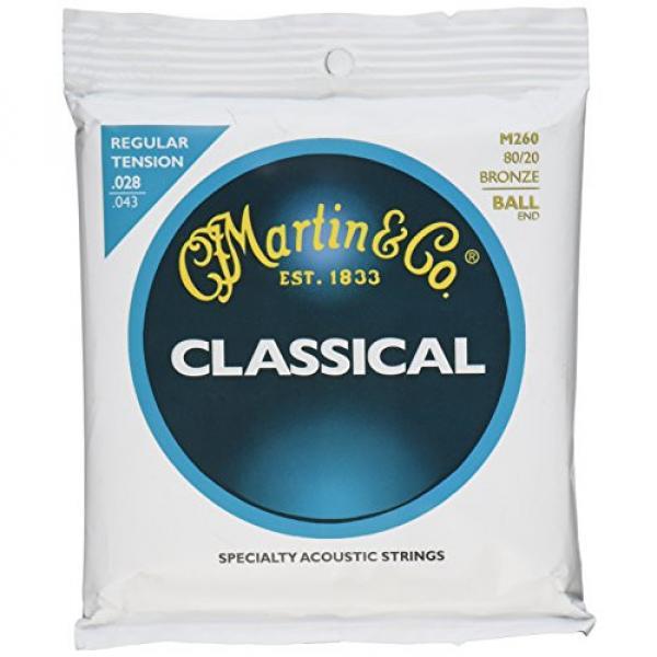 Martin M260 80/20 Bronze Ball End Classical Guitar Strings, Regular Tension