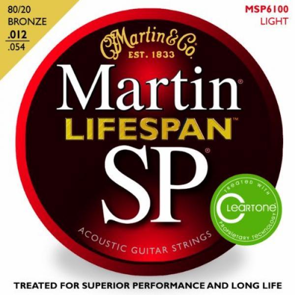 Martin MSP6100 SP Lifespan 80/20 Bronze Light Acoustic Guitar Strings